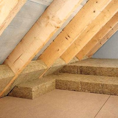 Rockwool Airrock ND kőzetgyapot hőszigetelés a tetőtérben, padláson