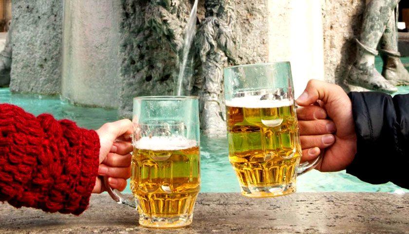 Megépült Európa első sörszökőkútját Szlovéniában
