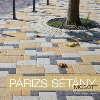 Párizs Sétány mosott térkő