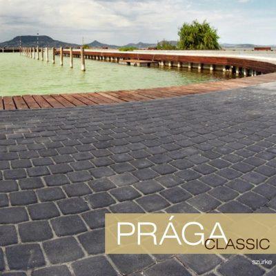 Prága Classic térkő háttérben tóval