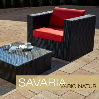Savaria Vario Natur térkő fotel és dohányzóasztal