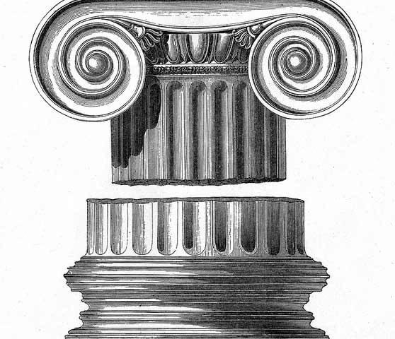 Görög ión oszlop vázlat