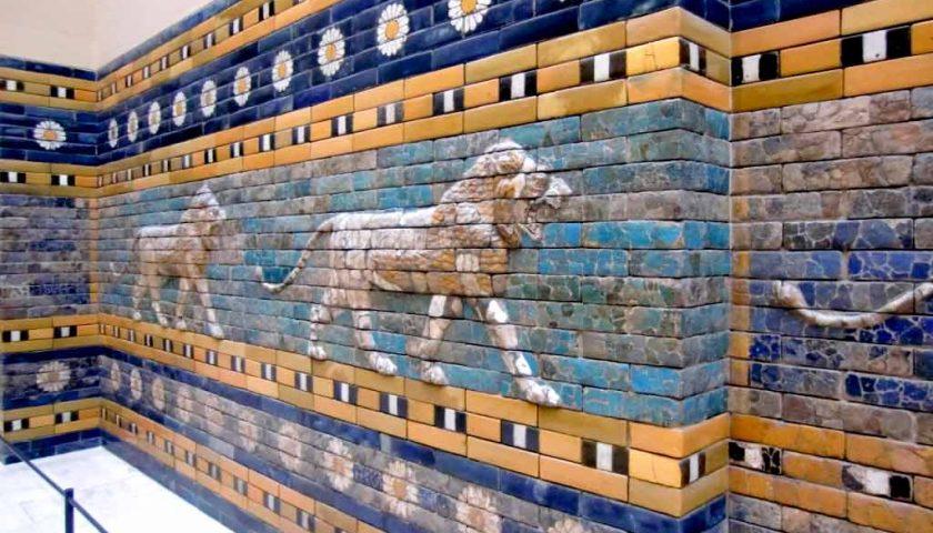 Az Istár kapu oroszlánjai a mezopotómiai Babilon egyik kapuján