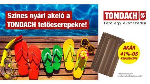 Tondach kerámia cserép nyári akció!