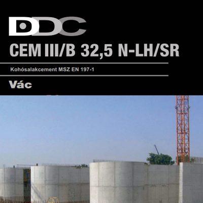 Váci Kohósalakcement EN 197-1 CEM III/B 32,5 N-LH/SR