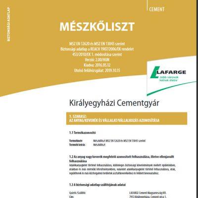 Lafarge mészkőliszt - Építőanyag .eu