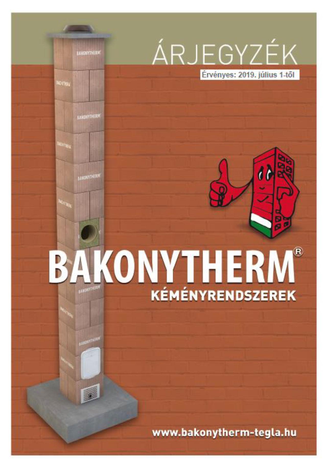 Bakonytherm kémény árlista 1 oldal