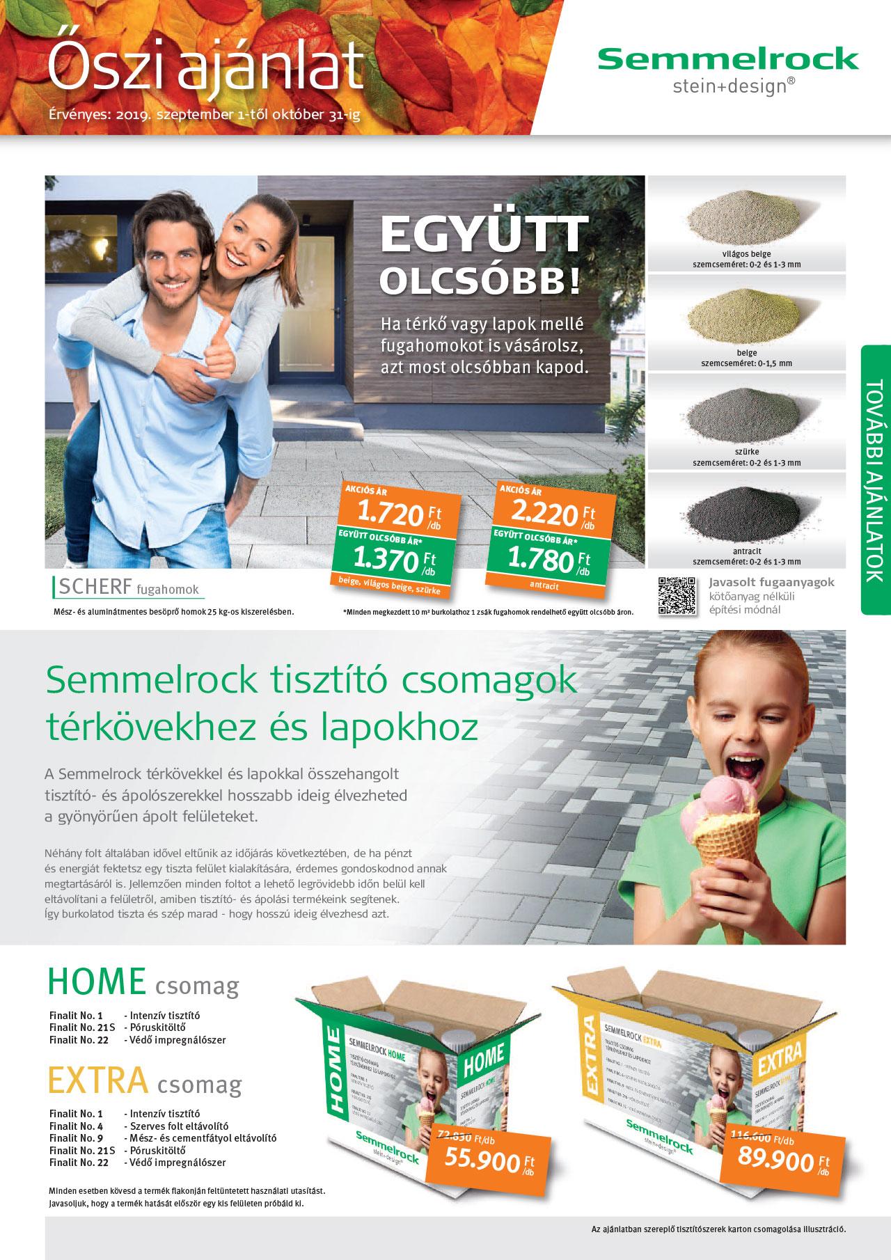 Semmelrock akció - 2019 - Ősz