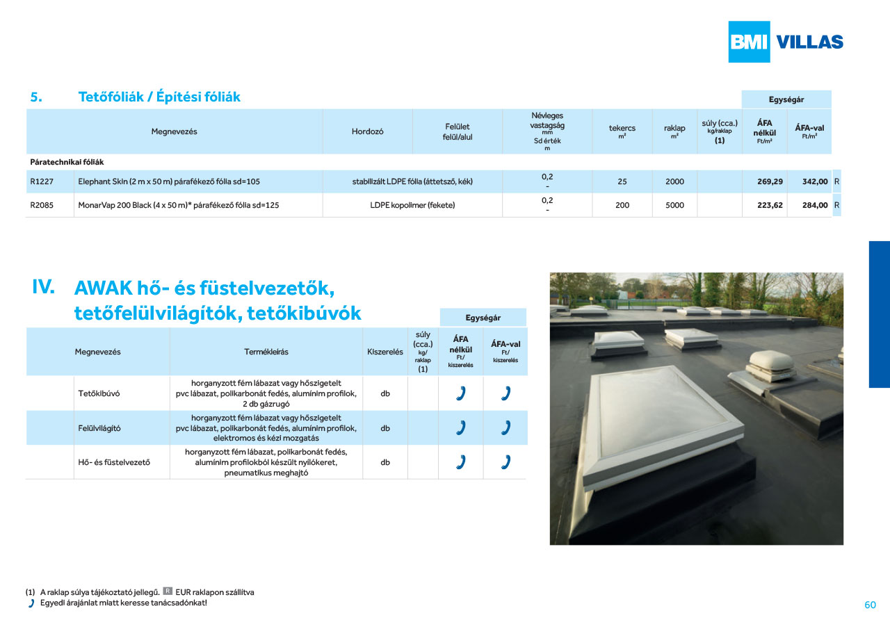 Bramac árlista - Építőanyag .eu
