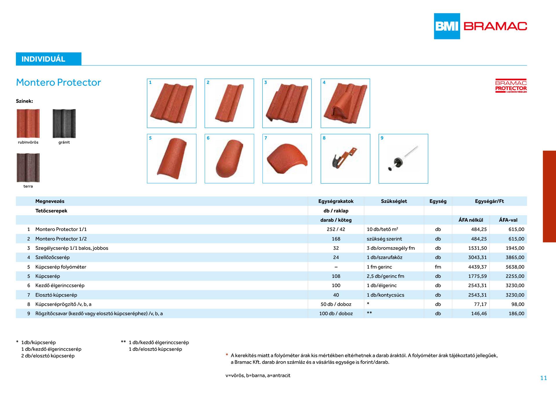 Bramac cserép árak 2020.03.01-től   Építőanyag.eu